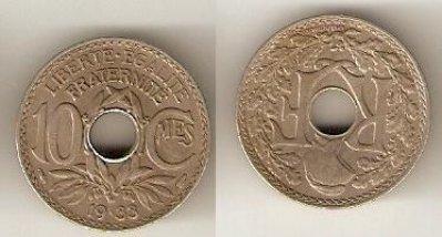 obrázok k predmetu 10 centisimes 1933