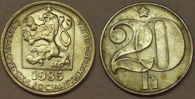 obrázok k predmetu 20 halierov 1985 ČSS