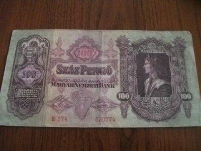 obrázok k predmetu 100 pengő 1930