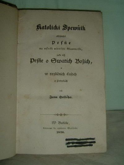 obrázok k predmetu Ján Hollý - 1846 - K