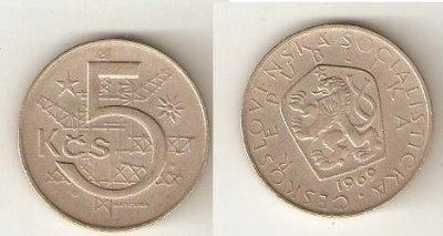 obrázok k predmetu 5 Kčs 1969