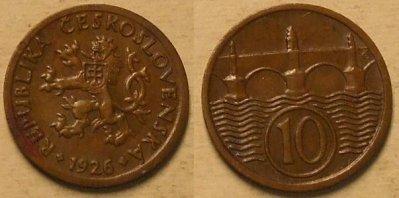 obrázok k predmetu 10 halierov 1926 ČSR