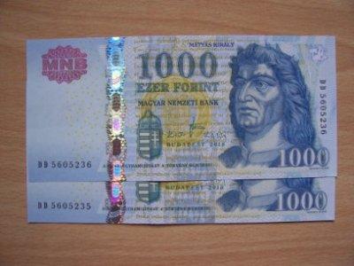 obrázok k predmetu Madarsko  1000 Forin