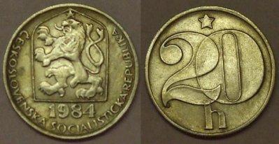 obrázok k predmetu 20 halierov 1984 ČSS