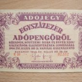 tovar Madarsko Egyszázezer  vyrobil aneskaceska