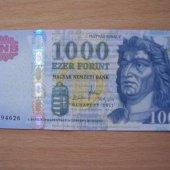 tovar Madarsko  1000 Forin  vyrobil aneskaceska