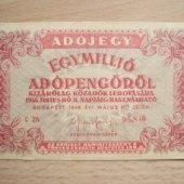 tovar Madarsko Egymillió A  vyrobil lomonosov