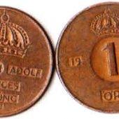 tovar Švédsko 1 Öre 1965  vyrobil lomonosov