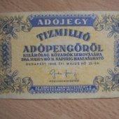 tovar Madarsko Tízmillió A  vyrobil borivoj