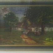 tovar Predám starý obraz -  vyrobil leopold4