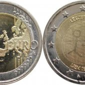 zberateľský predmet Pamätná 2 euro Luxem  vyrobil leopold4