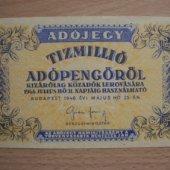 tovar Madarsko Tízmillió A  vyrobil svatopluk