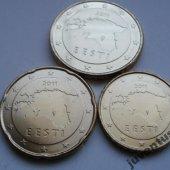 zberateľský predmet Estonsko 10,20,50 ce  vyrobil korvin