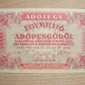 tovar Madarsko Egymillió A  vyrobil lotrinsky