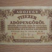 tovar Madarsko Tízezer Adó  vyrobil lotrinsky